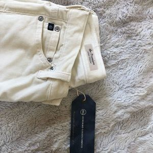 Ag Adriano Goldschmied Pants - AG Cream Cords Size 24R NWT